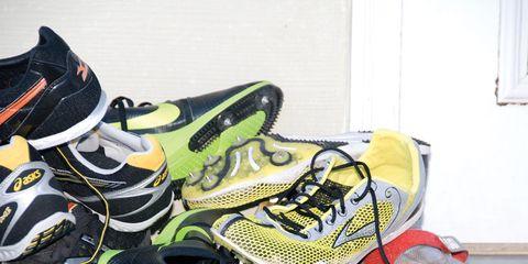 Footwear, Product, Yellow, Sportswear, Athletic shoe, Shoe, White, Running shoe, Light, Carmine,