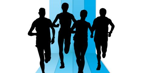 Standing, Electric blue, Playing sports, Parallel, Jogging, Silhouette, Illustration, Shadow, Graphics, Running,