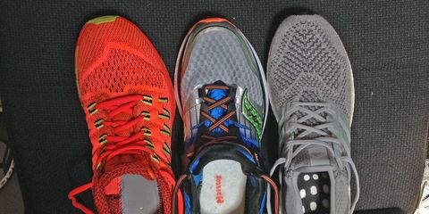 Footwear, Product, Shoe, Athletic shoe, White, Red, Running shoe, Sneakers, Light, Carmine,