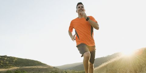 Human body, People in nature, Shorts, Jogging, Running, Knee, Exercise, Sneakers, Grass family, Grassland,