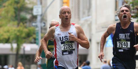 Sports uniform, Arm, Leg, Endurance sports, Sleeveless shirt, Recreation, Sportswear, Running, Athlete, Human leg,