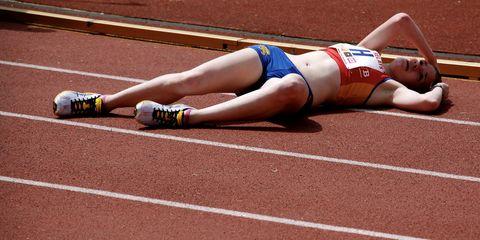 runner in pain