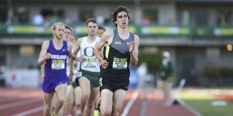 Matthew Maton competes at Oregon Twilight