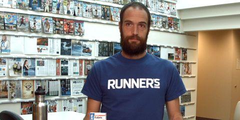 Facial hair, Beard, T-shirt, Moustache, Carmine, Shelf, Shelving, Collection, Walking shoe, Active shirt,