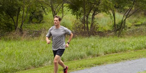 Footwear, Grass, Green, Road, Endurance sports, Exercise, Running, Athletic shoe, Asphalt, Shorts,