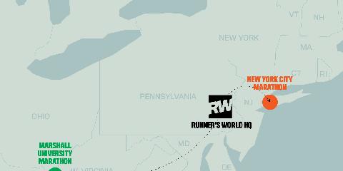 New York City Marathon and Marshall University Marathon