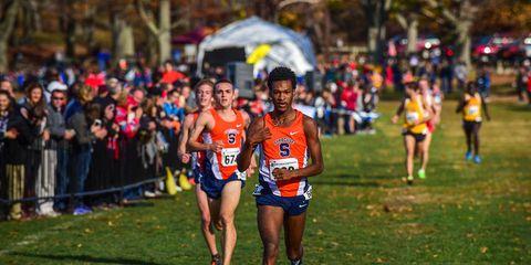 Syracuse men win the 2015 Northeast regional NCAA qualifying meet.