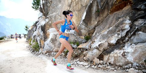 Elisa Desco competes at the 2014 World Mountain Running Championships