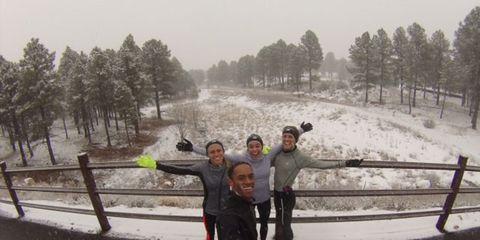 New Balance Boston Elite training in Flagstaff, Arizona.