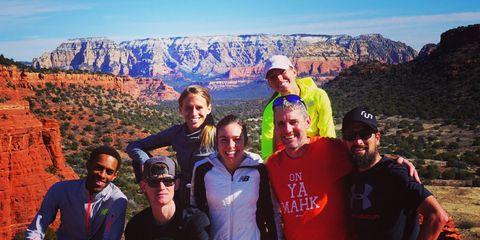 New Balance Boston training in Sedona, Arizona.