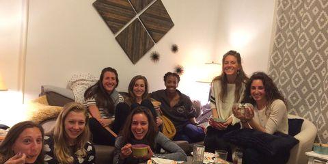 Liz Costello and friends training in Boston