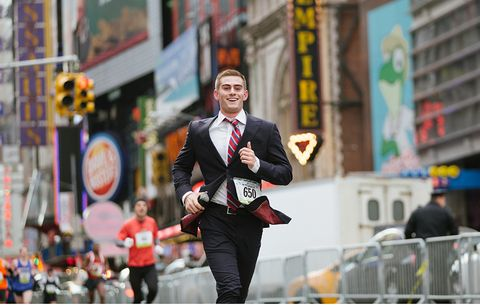 Record for Half Marathon in a Suit Keeps Falling