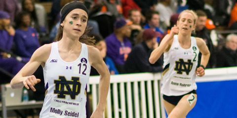 Molly Seidel and Anna Rohrer of Notre Dame