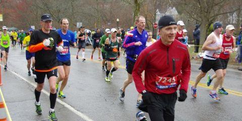 Patrick Walsh running Boston