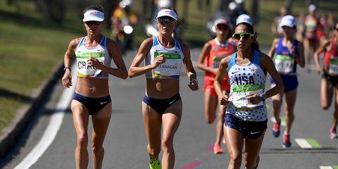 Amy Cragg, Shalane Flanagan, Desiree Linden in the 2016 Olympics