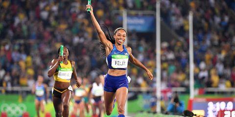 Allyson Felix in the Rio Olympics