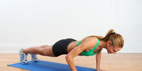 woman doing push-up