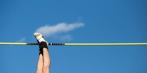 pole vaulter, feet first