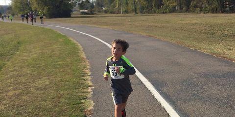 Charlie Westrip running the Huntsville Half Marathon.