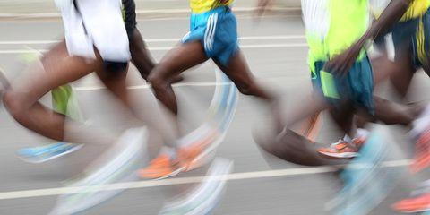 Marathoners at the Berlin Marathon