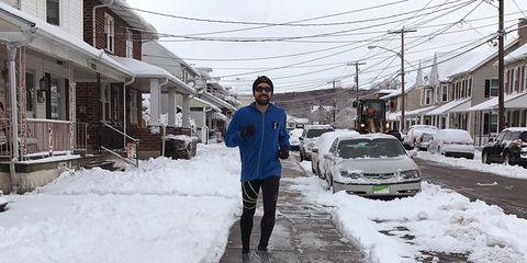 Chris Running in winter