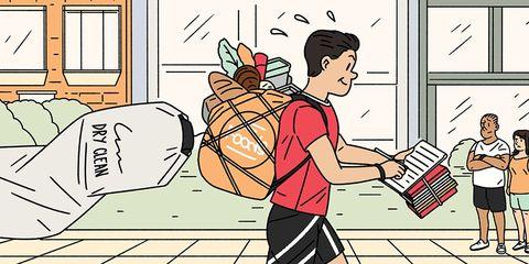 running errands illustration