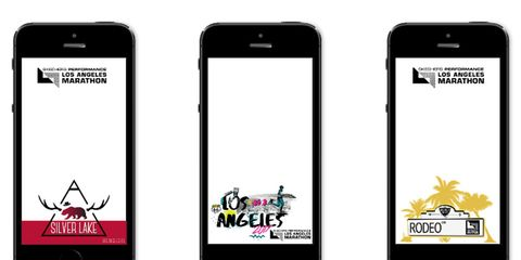 Snapchat geofilters for the Los Angeles Marathon