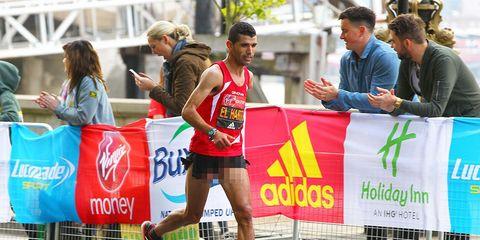 Abelhadi ElHarti finishes second at the London Marathon