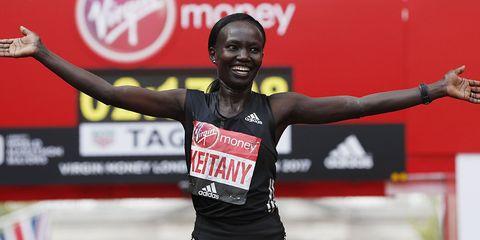 Mary Keitany at London Marathon