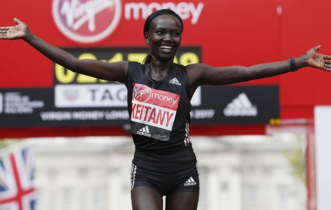 Mary Keitany at London Marathon