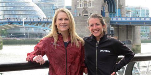 Kellyn Taylor and Laura Thweatt in London