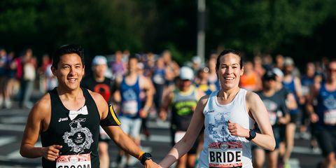 Amanda Hughes and Joel Tse Brooklyn Half