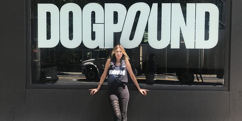 Carole Radziwill outside The Dogpound