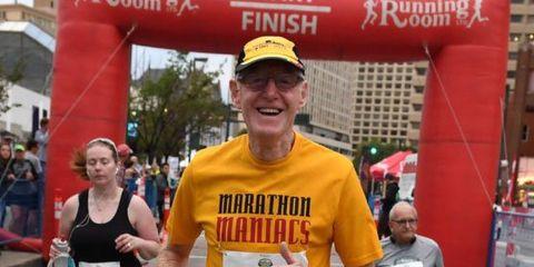 Roger Macmillan completes his 100th marathon