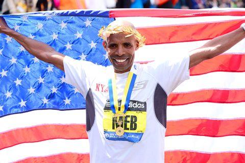 Meb wins 2014 Boston Marathon