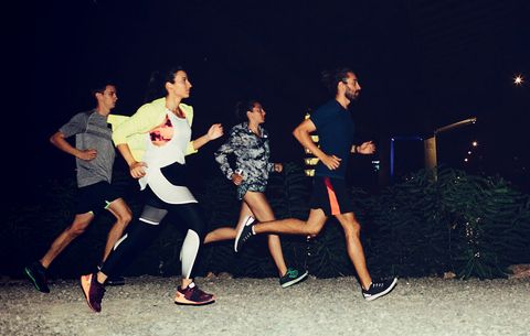 how to run safely at night