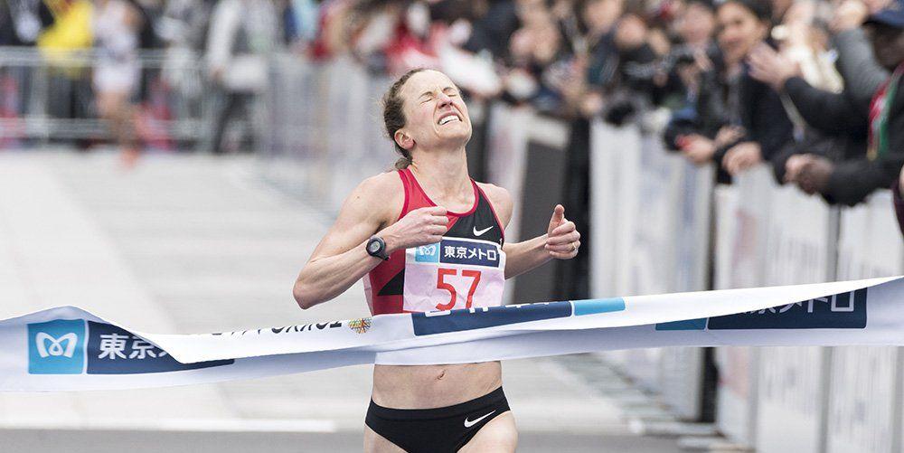 Amy Cragg is third at the 2018 Tokyo Marathon