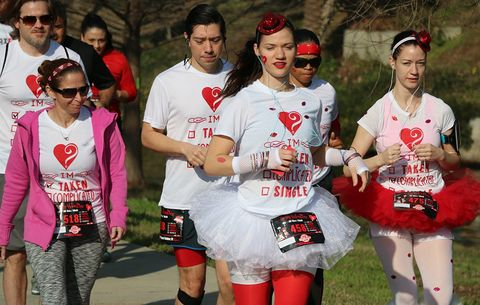 Runners during the Be My Valentine 5K