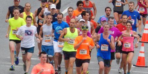 Robert Reese running the Baltimore Marathon