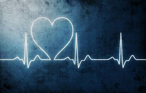 image of a heart on an EKG