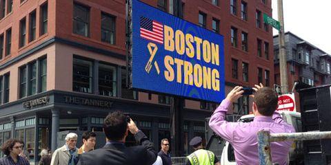 Boston Strong billboard