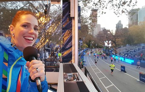Follow My Voice to the Finish Line: What It's Like to Be an Announcer at the NYC Marathon