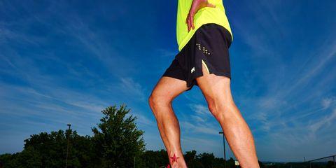 Prerace Checklist Man Stretching