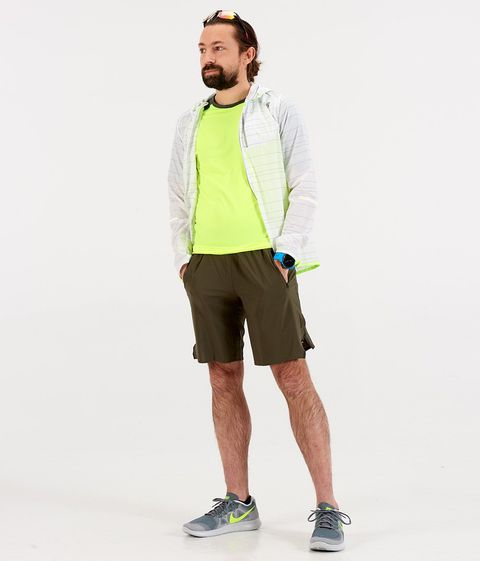 Chris modeling a spring running look