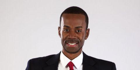 Confident Businessman in Red Tie