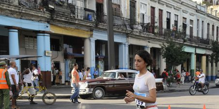 Local running Cuban marathon in Converse All-Stars