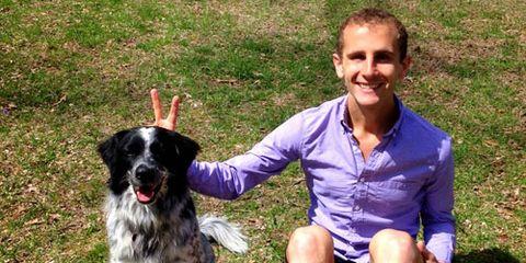 David Roche and his dog