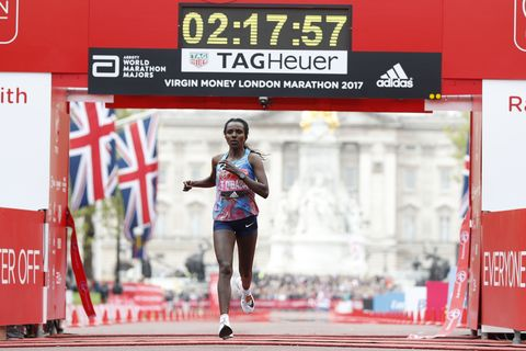 Dibaba second at 2017 London Marathon