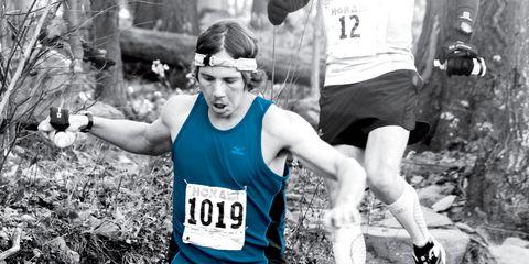 Trail runner in a race