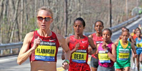 2014 Boston Marathon Flanagan Leads
